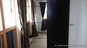 Sliding Door Bedroom Wardrobe Designs Ikea Pax Ilseng Black Brown Sliding Door Wardrobe Design Youtube