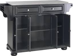 Black Kitchen Island With Stainless Steel Top Darby Home Co Pottstown Kitchen Island With Stainless Steel Top