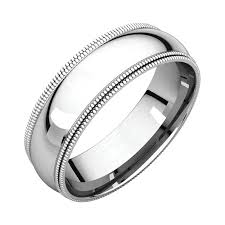 Platinum Comfort Fit Wedding Band Platinum 6mm Double Milgrain Wedding Bands