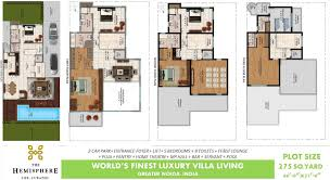 the hemisphere by uamrapali and o2 3 4 5 bhk villas in sector