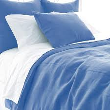 stone washed linen french blue duvet cover pine cone hill