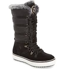 womens leather hiking boots canada santana canada mackenzie faux fur waterproof boot