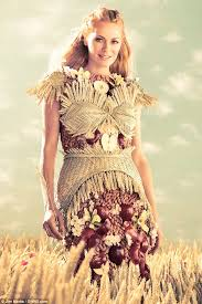 edible clothing tess daly models edible dress in new caign for special k