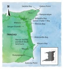 Map Of Trinidad Eastern Shore Trinidad U0027s Dramatic East Coast Caribbean Beat