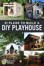 free house plans with material list 31 free diy playhouse plans to build for your kids u0027 secret hideaway