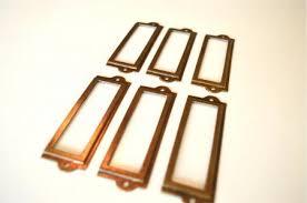file cabinet label holders 6 antiqued brass file cabinet label holder name holder plan chest
