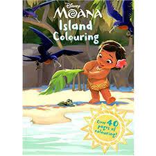 disney moana island colouring book big
