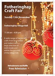 fotheringhay christmas craft fair oundle info
