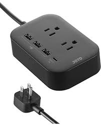 holiday deal on joto 2 outlet surge protector power strip with usb