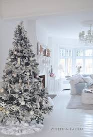 christmas white christmas tree decorations gold home remarkable