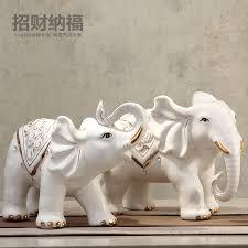 white ceramic lucky elephant statue home decor crafts room wedding