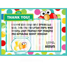 birthday thank you notes elmo thank you note sesame thank you note elmo and