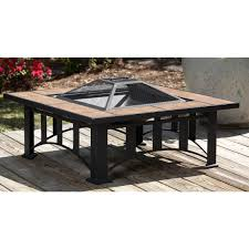 Fire Sense Propane Patio Heater by Fire Sense Tuscan Tile Mission Style Square Fire Pit 177179