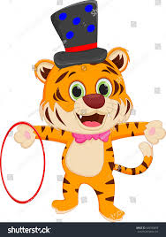cartoon circus tiger stock vector 420935899 shutterstock