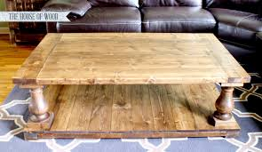 How To Make A Tabletop Out Of Reclaimed Wood by Ana White Balustrade Coffee Table Diy Projects