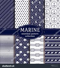 set marine nautical backgrounds navy blue stock vector 421311577