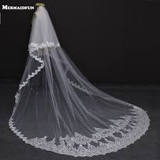 wedding veil styles 2018 new style two layers edge with lace luxury 3 meters