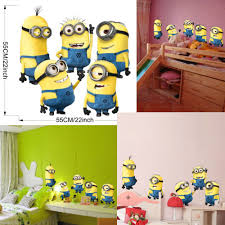minions despicable me 2 removable wall stickers decal kids bedroom minions despicable me 2 removable wall stickers decal kids bedroom decor mural