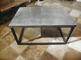 furniture interesting zinc coffee table design ideas silver