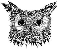 22 best tribal owl tattoos images on pinterest art art black