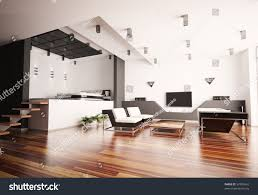 Livingroom Interior Modern Apartment Living Room Bedroom Interior Stock Illustration