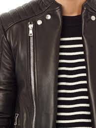 biker jacket sale balmain quilted leather biker jacket in black for men lyst