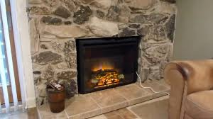 puraflame 26 western electric fireplace insert review youtube
