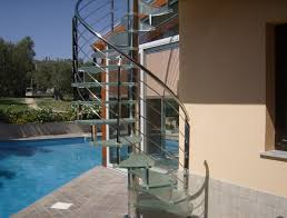 spiral staircase in glass and stainless steel by marretti