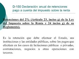 pagos a cuenta y retenciones del impuesto a la renta por declaraciones informativas ppt descargar