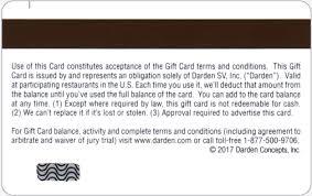 darden restaurants gift cards product detail