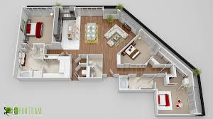 2d 3d cgi commercial rendering small house floor plan