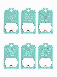 family home fun 12 days of christmas gift tag printables