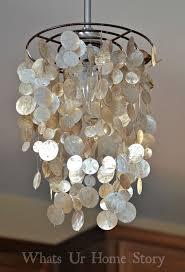stylish seashell chandelier diy faux capiz shell pendant kitchen