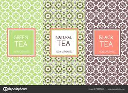 tea packaging templates vector flower pattern labels and tags