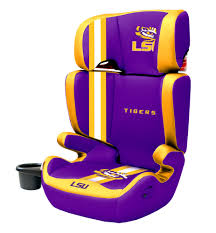 lsu tigers 2 in1 high back booster car seat lil fan