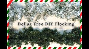 dollar tree diy snow flocking how to flock your garland