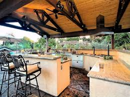momentous outdoor kitchen island designs with two level breakfast