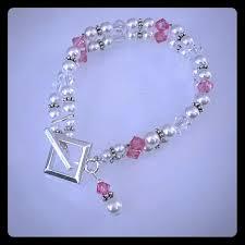 crystal pearl bracelet swarovski images Jewelry pink swarovski crystal pearl bracelet poshmark jpg