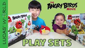 angry birds movie play sets red chuck terence pig figures