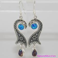 turquoise opal earrings usa wse118342 shop our selection of artisan arizona purple
