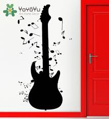 popular rock music note wall stickers buy cheap rock music note art removable wall stickers vinyl decal guitar notes rock n roll music wall mural diy home