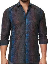 luxor camo grey designer men u0027s dress shirt perfect fit guarantee