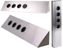 steckdosen design design edelstahl steckdose mehrfachsteckdose verteiler leiste