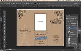 photoshop menu template design templates tri fold take out menu menu templates wedding