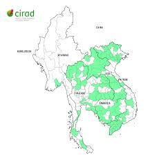 South East Asia Map Map Of The Key Projects In Continental Southeast Asia Cirad In