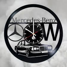mercedes benz logo emblem handmade vinyl record wall clock vinyl