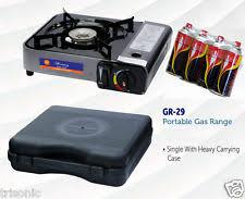 portable table top butane stove portable single burner butane gas cing stove w hard case world