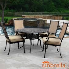 bocage 5 piece cast aluminum sling patio dining set w 48 inch