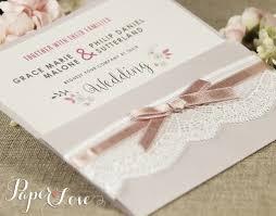 boho floral personalised wedding invitations rustic wedding cards