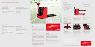 pallet trucks t 16 l linde material handling pdf catalogue